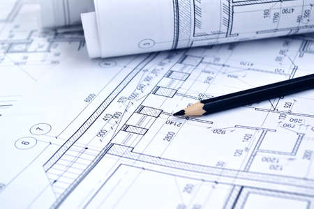 Photo of several drawings for the project engineer jobs