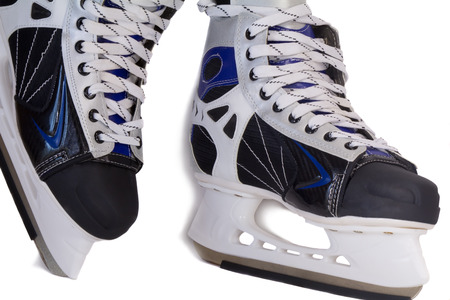 Comfortable and beautiful mens skating boots. Presented on a white background.  photo