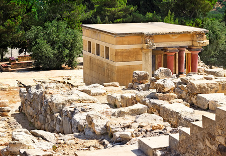 civilization: Legendary architectural monument of the Minoan civilization - Crete, Greece. Stock Photo