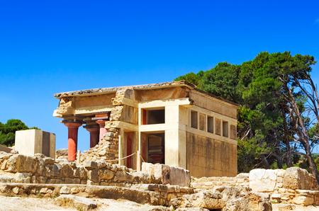 civilization: Legendary architectural monument of the Minoan civilization - the Palace of Knossos, Crete, Greece.