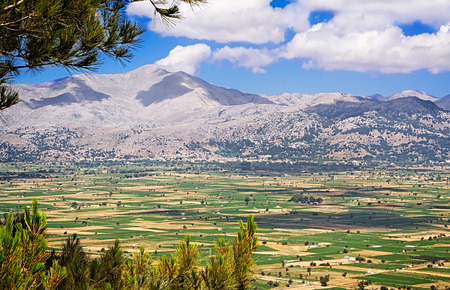 Landscape: plateau in the mountains of Crete, Greece. photo