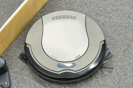 roundish: The automated robot vacuum cleaner of a roundish form, can make cleaning in hard-to-reach spots.