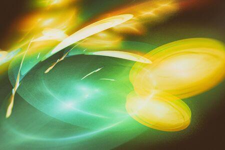 premise: Fractal image of colorful lines forming a vortex motion.