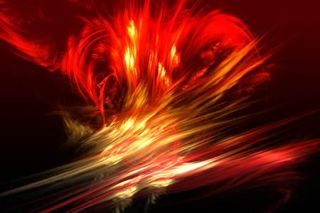 volcanic: Fractal image: fancy fractal lines create the illusion of a volcanic eruption.