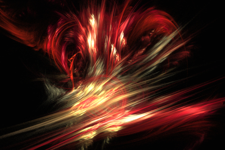 volcanic eruption: Fractal image: fancy fractal lines create the illusion of a volcanic eruption.