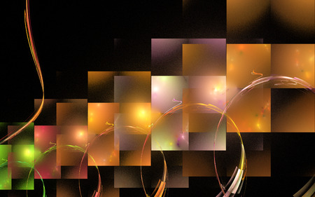 numerous: Fractal : the line image in the form of rectangles, reminiscent of the numerous Windows .