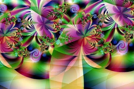mathematics: Fractal image: fancy pattern.