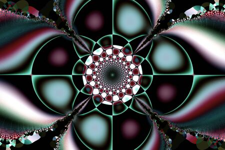 Illustration of a beautiful colored drawing of fractal structures.