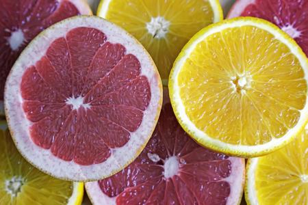 A slice of orange, presented in close-up.