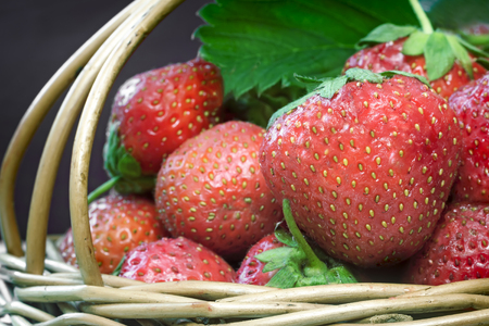 Delicious ripe strawberries closeup.
