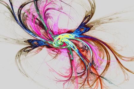 On a dark background abstract fractal image in the form of a fantastic flower. Reklamní fotografie - 101400589