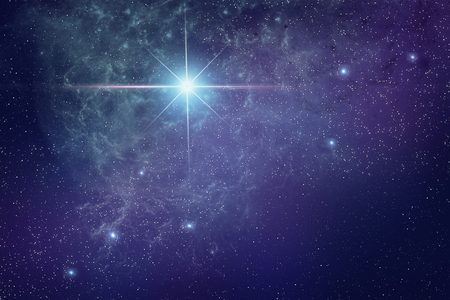 Abstract representation of the Universe and star galaxies with a cluster of stars. Фото со стока
