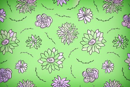 Floral set in vintage style, pastel colors, light background. A set of floral elements for your compositions.
