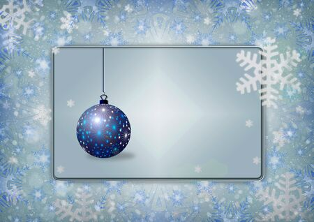 Beautiful blue and pink Christmas background - snowflakes, stars,lights
