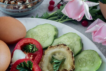 Healthy Breakfast on the table, natural products