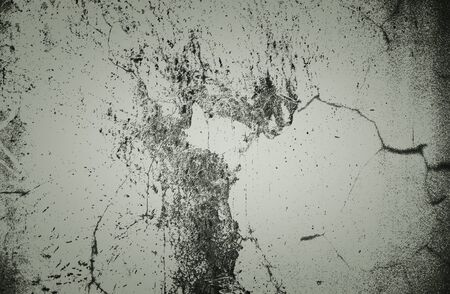 Concrete surface with cracks and splashes. Background monochrome image.