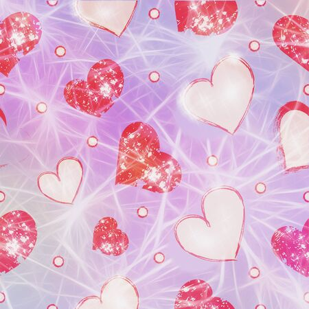 Bright festive background for Valentines day greetings