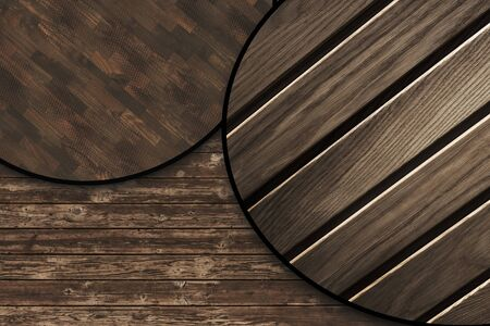 The background image is made of natural wood with a pronounced wood structure. Presented in close-up.
