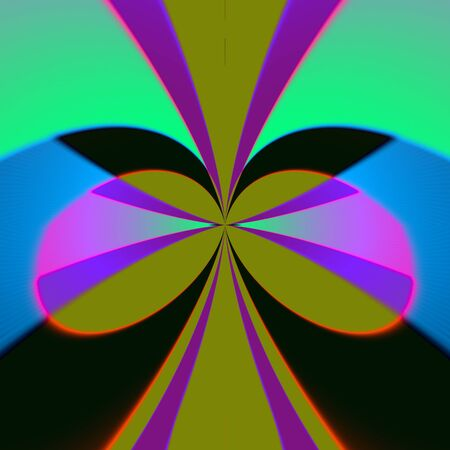 On a dark background there is colored lines and fragments forming a beautiful pattern.