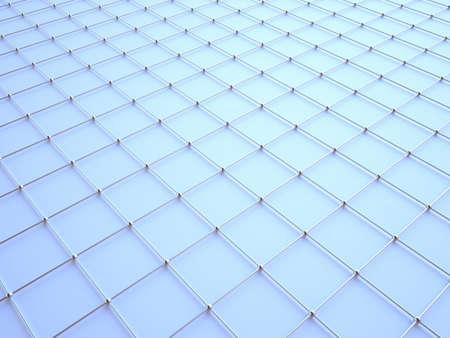 3D wire pattern. Balls wired to a net. Standard-Bild