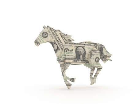 Dollar horse symbolizing the power of money photo