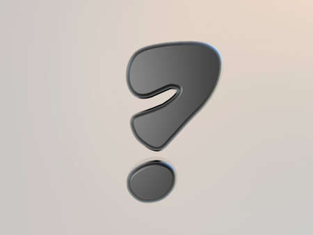 Question mark  Symbol on a  white background