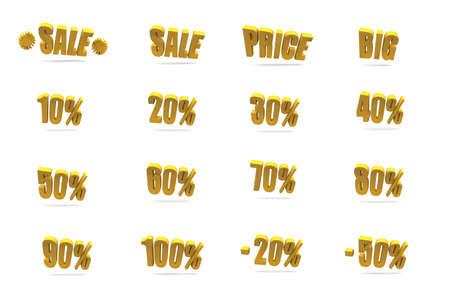 Sale and price signs Standard-Bild