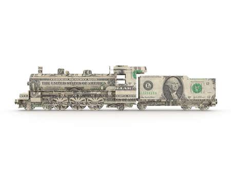 Dollar steam engine symbolizing the power of money