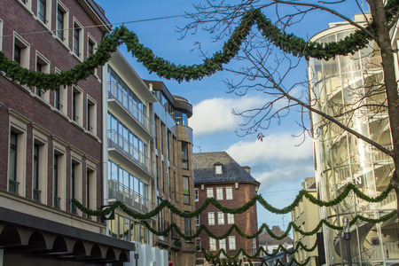Aachen modern and ancient city at the same time photo