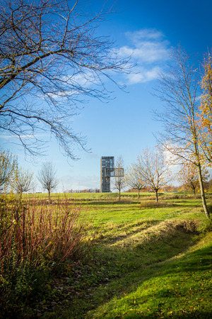 metal structure of thirty-meter height for panoramic view Stock Photo