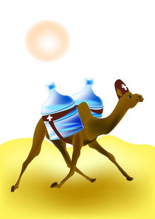 nomad: Camel-rescuer with gallons of water
