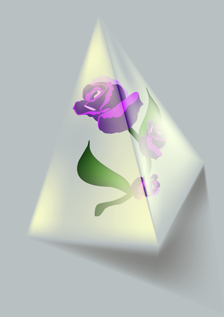 purple flowers: Purple flowers that are transparent pyramid Illustration
