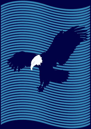 wingspan: Eagle. A wide wingspan on an abstract background