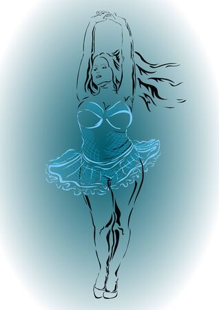 plump: Plump woman. The dance of a ballerina in tutu