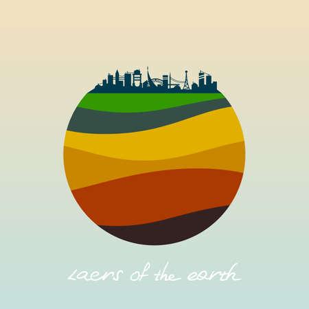 Couches de la terre. Vecteurs
