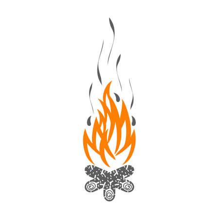 Campfire isolated on white background. Illustration