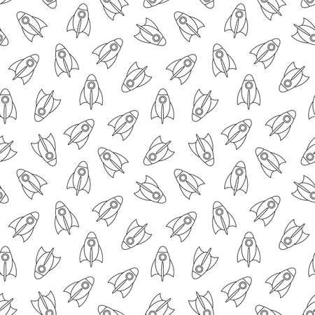 Cohetes De Dibujos Animados Sobre Fondo Blanco. Simple Patrón Sin ...