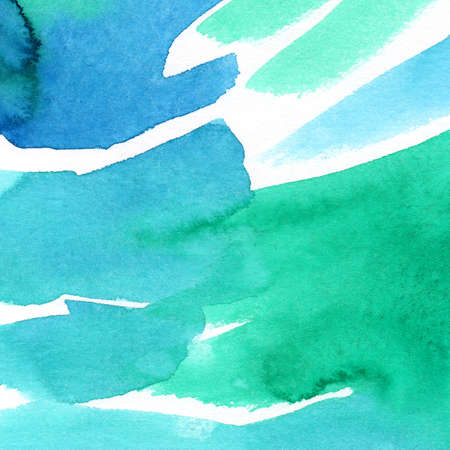Hand painted watercolor background. Watercolor stains and lines.