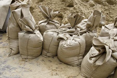 sandbag: Flood, the sandbags