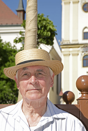 Senior to walk in sunny day - portrait