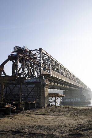 stary: Demounting the Stary most bridge in Bratislava, Slovakia