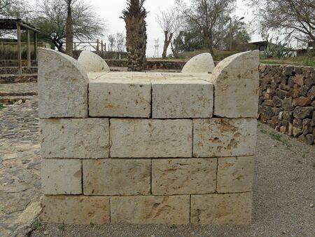 Beer Sheva: the replica of the horn altar. Фото со стока