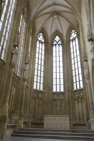 evangelist: The interior of gothic chapel of st. John the Evangelist Editorial