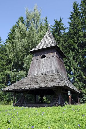 liptov: The wooden belfry from Liptov region