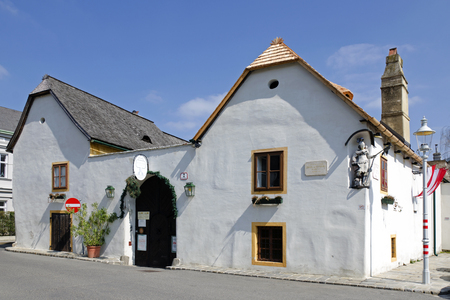 beethoven: The Beethoven house in Heiligenstadt in Vienna Austria. Beethoven stayed here in the summer of 1817.