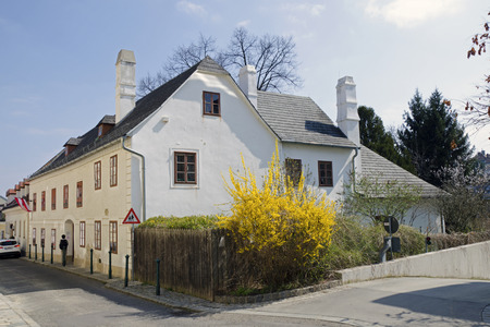 beethoven: The Beethoven house in Heiligenstadt Probusgasse in Vienna Austria. Editorial