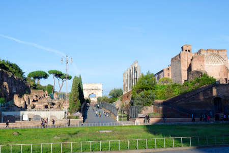 archaeologists: The Roman Forum, Rome, Italy