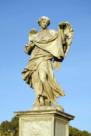 sudarium: The Angel with the Sudarium on the Angels Bridge in Rome