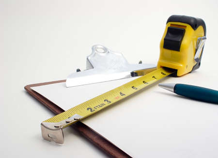 estimating: Measuring and Estimating tools Stock Photo