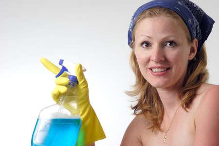 d�sinfectant: Maid tenue vaporisateur